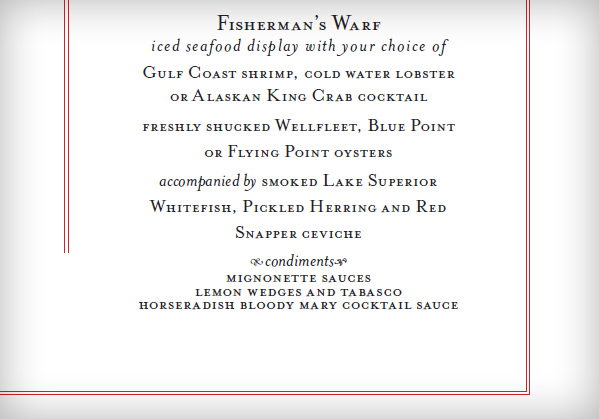 Another Close-Up of Wedding Menu Typography