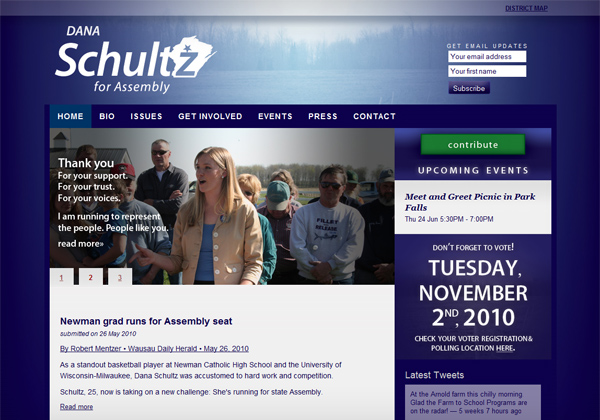 Schultz for Assembly Website