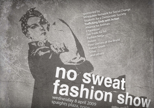 Sweat-Free Fashion Show Flyer