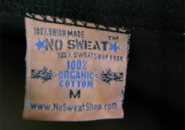 Sweat-Free T-Shirt Label